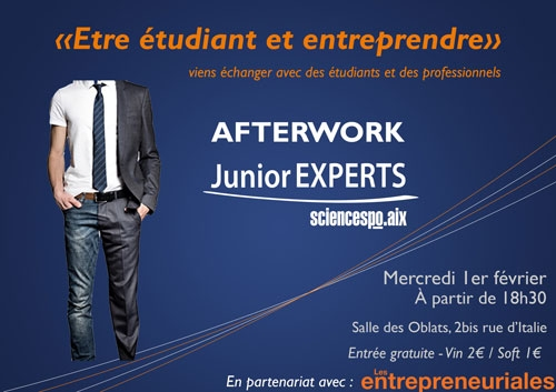 AFTERWORK JUNIOR EXPERTS SCIENCES PO AIX - ENTREPRENEURIAT